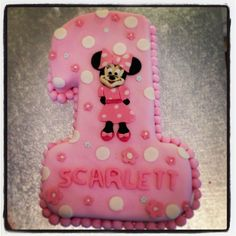 Minnie Mouse First Birthday Cake My Sewing Craft Projects