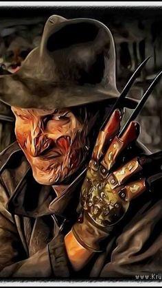 Freddy Krueger by kruemel-sangerhausen Robert Englund, Horror Villains, Horror Movie Characters, Horror Movies, Freddy Krueger, Arte Horror, Horror Art, Slasher Movies, Drawn Art