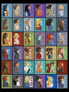 She Series Collage Art Print by Karen Hallion Illustrations - X-Small Disney Memes, Disney Quotes, Cute Disney, Disney Art, Disney And Dreamworks, Disney Pixar, Nerd, Women In History, Princesas Disney