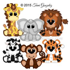paper piecing patterns for paper crafts Baby Zoo Animals, Cute Animals, Animal Paintings, Animal Drawings, Animal Cutouts, Baby Sewing Projects, Animal Projects, Cute Doodles, Fabric Painting