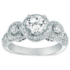 Gabriel & Company  Diamond Engagement Ring W-ER4130D4 - Diamond Engagement Ring Ring has a matching wedding band