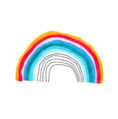 Rainbow by Jane Reiseger on Artfully Walls