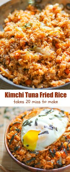 Kimchi fried rice is one of my favorite recipes use kimchi for cooking. It's delicious and takes only a little effort to make.
