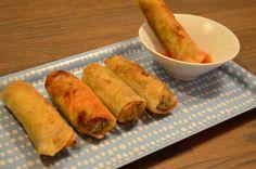 VÅRRULLER-det er enkelt det:) Spring Rolls, Guacamole, Sweet Potato, Tapas, Food And Drink, Yummy Food, Snacks, Vegetables, Ethnic Recipes