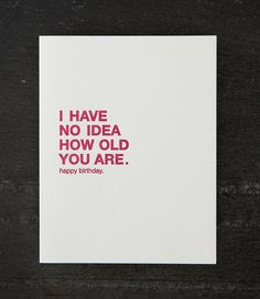 no idea. letterpress card. #008