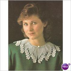 Crochet Collars - Mousquetaire crochet collar, Raised Rose Crochet