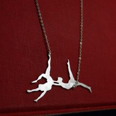 Trapeze Artists Sterling Silver Necklace