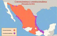 Mapa Revolucion mexicana Historia Universal, World, Movie Posters, Maps, Mexican Revolution, World History, Late Modern Period, Mexican, Vegetable Garden