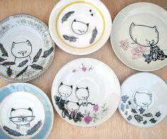 cat plates | Flickr - Photo Sharing!