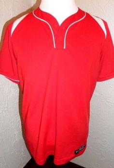 Under Armour Heat Gear Baseball Shirt Factory 2 Button Loose Fit MLB Mens Sz-M #UnderArmour #baseball