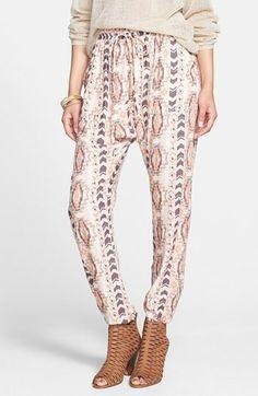 Printed Harem Pants #CoachellaMustHave #BohoBottoms @Nordstrom