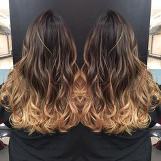 Beautifully painted balayage ombré by @krista42