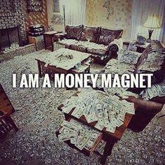 I\'m a money magnet #billionaire #lifestyle #motivationalquotes