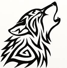 simple tribal wolf - Google Search