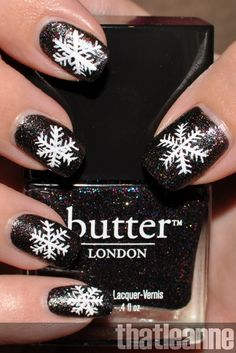 thatleanne: Simple Holiday Nail Art Ideas feat. Butter London Holiday 2011