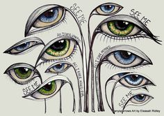 art therapy eyes meaning illustration by Eleasah E Ridley