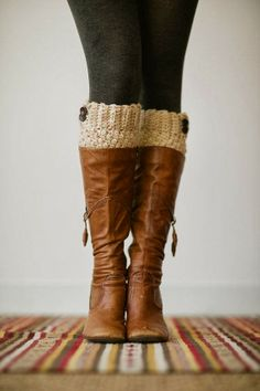 Knitted Boot Cuffs Faux Leg Warmers or Boot | Fashion World