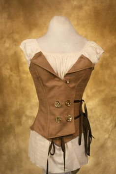 Steampunk Double Breasted Corset by Damsel in this Dress via etsy.com