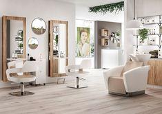 Barber Shop Interior, Clothing Store Interior, Barber Shop Decor, Hair Salon Interior, Salon Interior Design, Salon Design, Home Hair Salons, Home Salon, Vintage Hair Salons