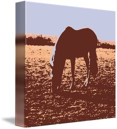 """""""Horse+Grazing""""+by+Roseann+Riggi-Knudson,+Bartlett+//+pretty+pop+art+horse+//+Imagekind.com+--+Buy+stunning+fine+art+prints,+framed+prints+and+canvas+prints+directly+from+independent+working+artists+and+photographers."""