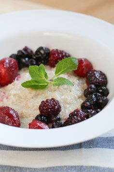 Steel Cut Oats with Warm Berry Compote