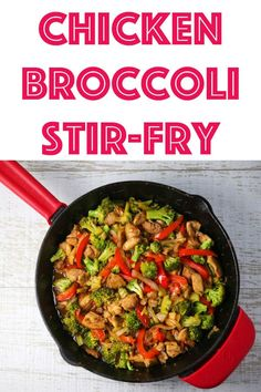 Easy Chicken and Broccoli Stir-Fry that comes together in less than 30 minutes and is way better than take-out!