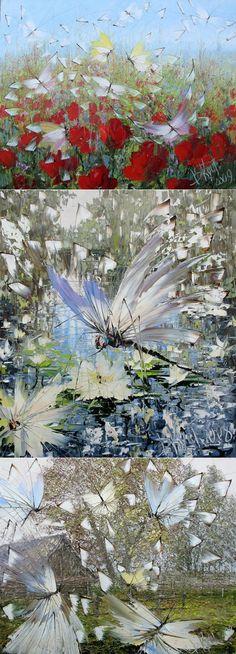 Картины мастихином от Дмитрия Кустанович... И нам ведь, с цветами, слова неважны Мы просто, как воздух, друг другу нужны...