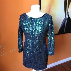 Cool Great Just Flowers Paris sequin dress mini vee back long sleeve size LARGE juniors 2018 Check more at http://24shop.ga/fashion/great-just-flowers-paris-sequin-dress-mini-vee-back-long-sleeve-size-large-juniors-2018/