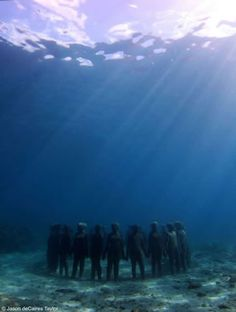 Artist Jason de Caires Taylor creates amazing underwater sculpture gardens to help rebuild fragile coral reefs and ocean eco-systems.