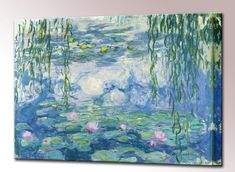Water Lilies Canvas Print Framed by Monet Wall by QualityArtPrints