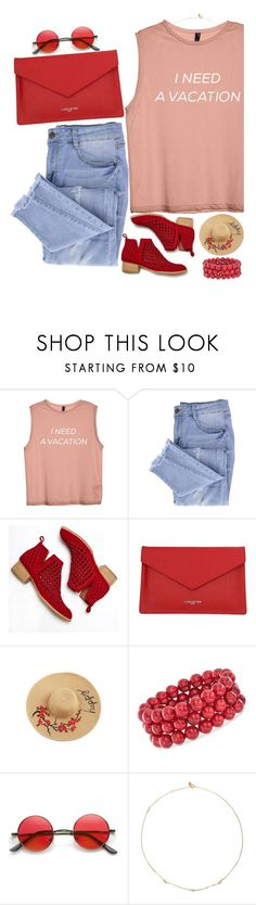 """I NEED A VACATION"" by cameronmonaghantrashaf ❤ liked on Polyvore featuring Essie, Jeffrey Campbell, Lancaster, Ross-Simons and Loren Stewart"