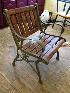 Restored Cast Iron Chair