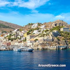 The beautiful Greek island of Hydra Saronic Gulf Greece Islands, Beautiful Places, Places To Visit, Greeks, Water, Instagram Posts, Landscapes, Travel, Outdoor