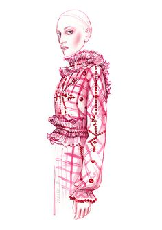 GIVENCHY BY RICCARDO TISCI fashion illustration by António Soares