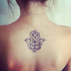 This is a tattoo of the hamsa, an image by many societies recognised as a sign of protection. So, great meaning and beauts as well.