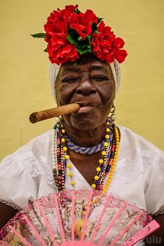 Cuban Characters II | Another larger than life character from the streets of old Havana. These wonderful ladies certainly know how to choose their backgrounds to make an amateur photographer happy!