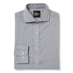 Men's Spread Collar Dress Shirt Black