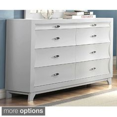 Akeela Contemporary Black or White 8-drawer Dresser