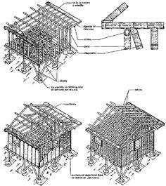bamboo hut construction - Google Search