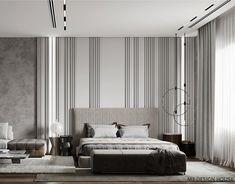 Master bedroom on Behance Bedroom Setup, Master Bedroom Interior, Bedroom Closet Design, Modern Master Bedroom, Modern Bedroom Design, Bed Design, Modern Interior Design, Home Bedroom, Bedroom Decor
