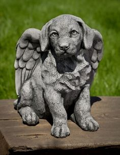 Angel Puppy cast stone Dog Statue made by Campania International