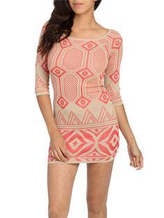 Jacquard Pattern Sweater Dress from ArdenB.com