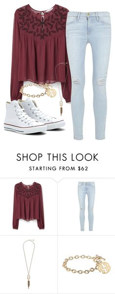 """""""United #35"""" by maddie31703 ❤ liked on Polyvore featuring MANGO, Frame Denim, Converse, Kendra Scott and Alison & Ivy"""