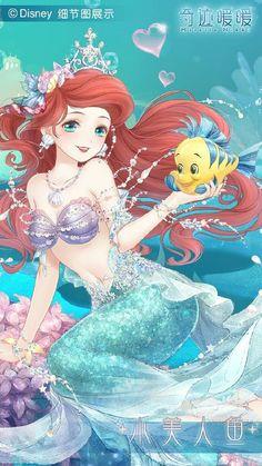 Nikki x Disney Princess Disney Princess Pictures, Disney Princess Art, Anime Princess, Disney Fan Art, Anime Angel Girl, Anime Girl Cute, Anime Art Girl, Anime Girl Drawings, Disney Drawings
