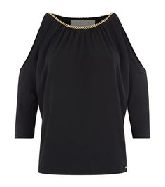 MICHAEL Michael Kors Chain Trim Cold Shoulder Top available to buy at Harrods. Shop women's designer fashion online and earn Rewards points.