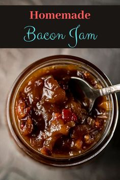 This Bacon Onion Jam might be the best things in the world-bacon & onions simmered with sugar, vinegar and mustard, this stuff is ready in 30 minutes. I mean, who can say no to big chunks of chewy bacon and onion all caramelized together in a sauce of sugar, vinegar and mustard - plus a touch of cayenne for s little kick? via @Went Here 8 This Best Appetizer Recipes, Jam Recipes, Best Appetizers, Sauce Recipes, Paleo Recipes, Bacon Onion Jam, Chicken Liver Mousse, Goat Cheese Pizza, New Year's Food