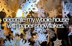 i tried that this year. i had the snowflakes made and everything but i never hung them up... opps