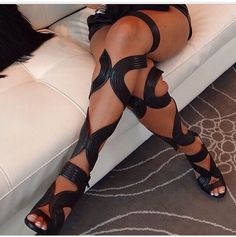 Sexy strapped gladiator heels