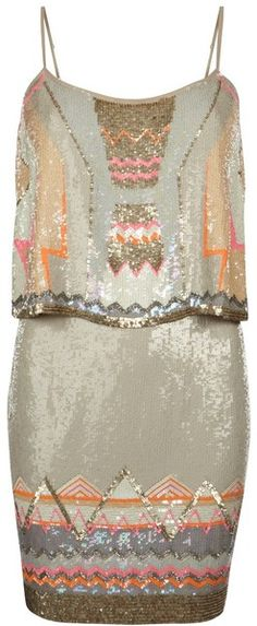 sequins & bead dress