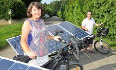La Dépêche - Le vélo solaire contre le cancer  «On était déjà photosensible» Avec ce défi, Béatrice et Yannick le prouve encore./Photo Joël Boyé.
